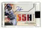 2020 Topps Luminaries George Springer 7 15 auto autograph patch card Astros