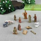 Tiny German Vintage Nativity Set 14 Mini Figurines in Plastic Box Made Germany