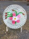 EXCEPTIONAL 1984 Perthshire PINK  WHITE CLEMATIS Flower Art Glass Paperweight
