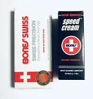 Powell Peralta BONES SWISS Skateboard Bearings with Speed Cream Lubricant New