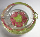 LOVELY VINTAGE SIGNED MAUDE  BOB ST CLAIR 1977 PINK FLOWER ASHTRAY NICE