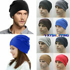Unisex Man Women Warm Cotton Hiphop Hat Slouchy Baggy Beanie Knitted Stretch Cap