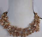 J Crew Classic Two Tone Crystal Floral Necklace