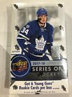 2017-18 Upper Deck Hockey Series 1 Hobby Box - 6 Young Guns Rookie Cards Per Box