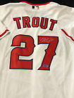 Mike Trout Signed Los Angeles Angels White Nike MLB Jersey with COA