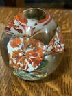 1050s Joe St Clair Art Glass Floral Paperweight Stunning Color Free Shipping