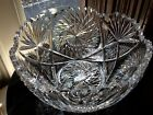 Taylor Brothers American Brilliant Cut Glass 9 Bowl Geometric Pinwheels