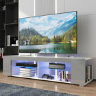 57 Modern TV Stand Cabinet Unit with LED Light Entertainment Center for 65 TV