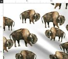 Buffalo Canada Aboriginal Native American Bison Spoonflower Fabric by the Yard
