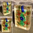 Glass Paperweight Plaque By Hingant Mikael 2020 Bouquet Flowers On Gold Ground