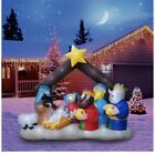 Christmas Inflatable Holidayana Nativity Scene LED 8ft Tall 65 ft Wide