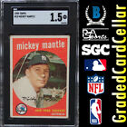 MICKEY MANTLE 1959 Topps #10 SGC 1.5 (Comp to BGS PSA) Great Centering ⚾️