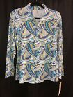 Small Lulu B Blue Multicolored Striped Zipper Jacket UPF 50