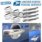 4DR Door Handle Covers + Bowls Chrome For 2010 2012 2013 2014 2015 Chevy Camaro