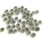 50 Sterling Silver Antiqued Daisy Spacer 6mm