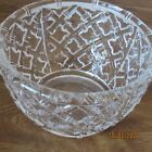 Tiffany Art Glass Bowl Bamboo Basket Weave 9Wide Signed