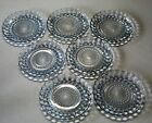 Anchor Hocking Blue Bubble Set of Seven Bread Plates
