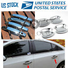 Door Handle Covers + Bowls Chrome For 2010 2011 2012 2013 2014 2017 Buick Regal