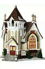 Lemax Little River Church Lighted Holiday Village Stained Glass