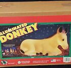 Vintage Foam Donkey Lighted Blow Mold New in Box Christmas Nativity Decor
