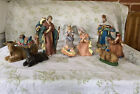 Kirkland Signature 13 Piece Porcelain Nativity Set in Original Box no Creche