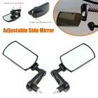 2Adjustable Motorcycle Scooter Rear View Mirror Side Bar End w Foldable Holder