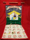 1995 Pockets of Learning Cloth Nativity Advent Calendar w Fabric Figures