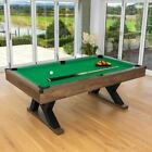 PINPOINT Pool Table  7FT WOODEN FINISH TABLE + 2x Cues Balls Chalk  Triangle