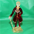 Antique Vintage Rare Murano Italy Glass Victorian Man Ruby Red Gold Aventurina