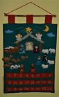 Nativity Advent Calendar w 24 cloth ornaments  24 x 15
