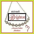 Brighton ALCAZAR Flora Crystal Collar Silver Pendant Necklace NWT 68