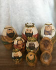 Roman Nesting Dolls Nativity Set 9 Piece Christmas Holiday Decor Set Vintage