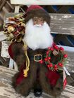 Christmas Santa Claus Figure African American Black 135 Tall NEW