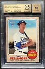 2017 Topps Heritage CODY BELLINGER Real One Blue Ink Auto BGS 9.5 10 (w 10 sub)