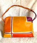 Handpainted handmade ASTORE VENEZIA Leather Bag Purse made in Italy
