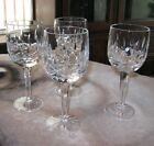 CRYSTAL Wine glass lot vertical cut and crisscross High clarity 8 oz FREE SHIP