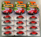 MATCHBOX 62 VOLKSWAGEN BEETLE RED  LOT OF 12  MBX ROAD TRIP