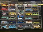 1 64 Diecast Display Case With 27 VW Buses