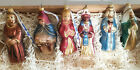 Lauscha Glas Creation Nativity Christian Glass Ornament Set in Box Germany Issue