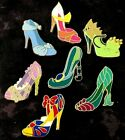 Exclusive Lot of Qty 7 Disney Princess High Heel Shoes WDW Trading Pin Set