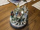 JIM SHORE LARGE MUSICAL LIGHTS NATIVITY WATER GLOBE BEHOLD THE BLESSED BIRTH
