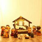 Resin Christmas Nativity Set Scene Figures Baby Jesus 11 Piece Set W LED Light