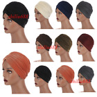 Muslim Women Glitter Scarf Hijab Turban Hat Stretch Pleated Beanie Chemo Caps