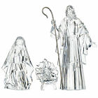Set 3 RAZ Clear Baby Jesus Mother Mary Joseph Christmas Nativity Figurine Decor