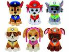 Ty Paw Patrol Beanie Babies - Set of 6! Marshall, Chase, Skye, Rocky, Rubble ...