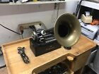 Antique Dictaphone Transcribing Machine Columbia Graphophone NY + Horn Prop