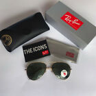 Ray Ban Sunglasses RB3025 Aviator 001 58 Gold POLARIZED Green Classic G 15 58mm