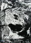 Modernist ABSTRACT PAINTING Expressionist MODERN ART B  W DEEP SORROWS FOLTZ
