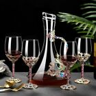 Enamel Color Crystal Glass Decanter Set Creative Red Wine Goblets Whiskey Cups