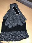 Charles Albert Men's Black and Grey Beanie With Matching Gloves 1 set